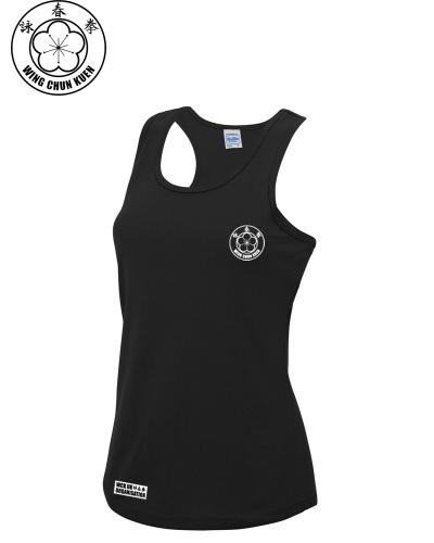 WCKUK Womens Black Training Vest